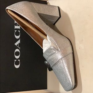 Coach Shoes - COACH Slip On; Jade Loafer; Metallic Leather Upper